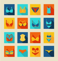 Bra-icon-set-flat-38 vector
