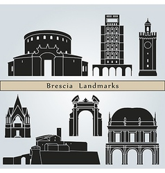 Brescia landmarks and monuments vector image