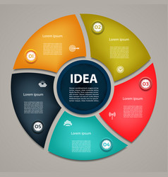 Business concept with 5 cyclic options vector