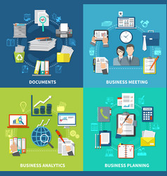 business items composition set vector image