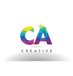 Ca c a colorful letter origami triangles design vector