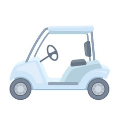 Car for golfgolf club single icon in cartoon vector