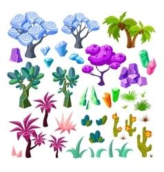 Cartoon Landscape Elements Collection vector image