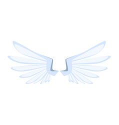 Cartoon white eagle wings knight item isolated vector