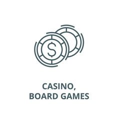 Casinoboard games line icon casinoboard vector