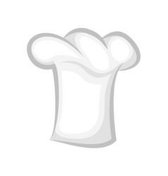 clean chef cook hat realistic stylish 3d design vector image