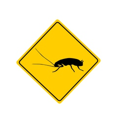 Cockroach warning sign vector