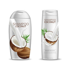 coconut shampoo realistic product vector image