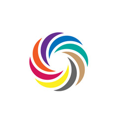 Colorful circle icon graphic design template vector
