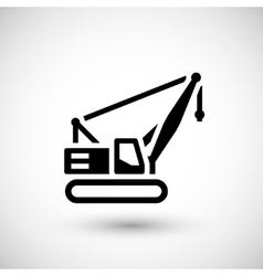Crawler crane icon vector