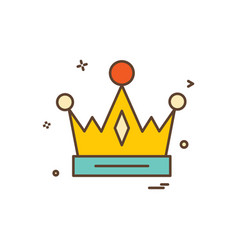 crown empire king icon design vector image