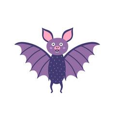 cute little bat vampire bat character vector image