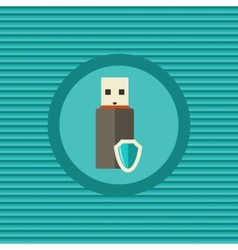Data protection in portable devices flat icon vector image