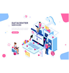 Datacenter concept design vector
