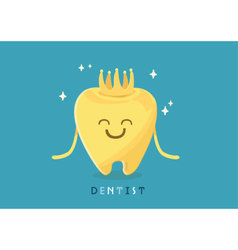Dental crown vector