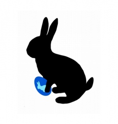 Easter bunny silhouette vector