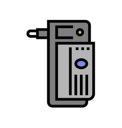 Electrical adapter color icon vector