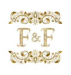 F and f vintage initials logo symbol vector