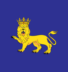 Flag of uppsala is the capital of uppsala county vector
