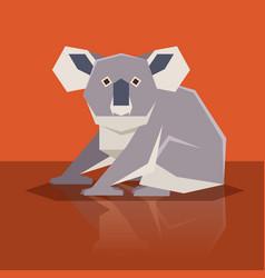 flat design koala vector image