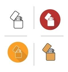Flip lighter icon vector