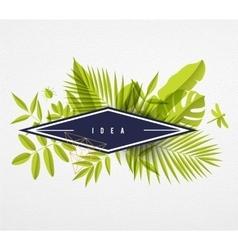 Frame floral frame lime vector image