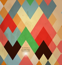 geometric retro background vector image
