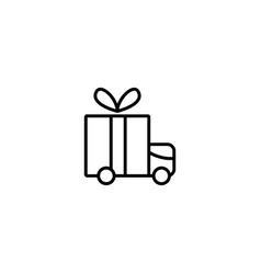 gift shipping icon vector image
