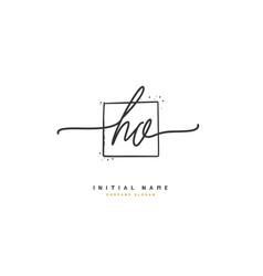 h o ho beauty initial logo handwriting logo vector image