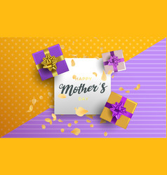 happy mothers day floral card for mom holiday gift vector image