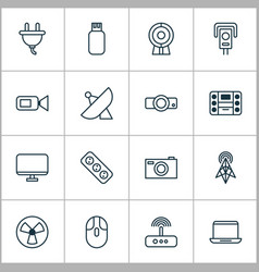 Hardware icons set collection of switch digital vector