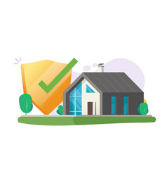 Home insurance security protection care or safe vector