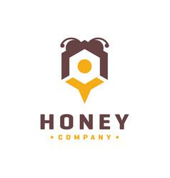 honey wasp logo vector image