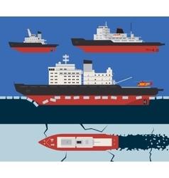Icebreaker infographics vector image