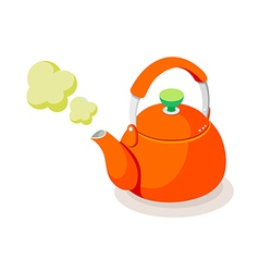 icon kettle vector image
