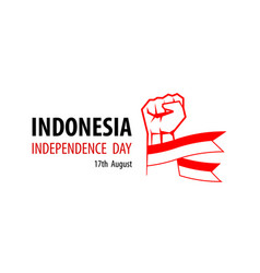 Independence day indonesia design vector