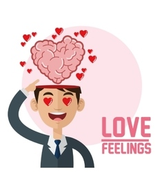 love design feelings icon Colorfull vector image