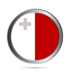 Malta flag button vector image