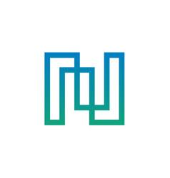 modern letter n logo design vector image