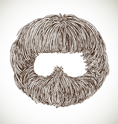 Neat beard vector