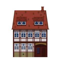 old house home building facade europe vector image