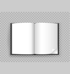 open book template transparent background vector image