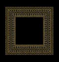 ornate frame and borders set vector image