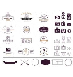 Photographer and photo studio element signatute vector image vector image