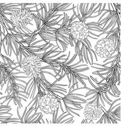 Pine pattern vector