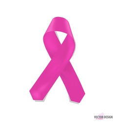 Pink ribbons vector