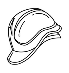Safety helmet icon doodle hand drawn or outline vector