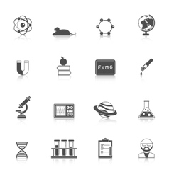 Science and scholarship icon set vector