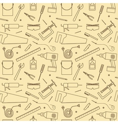Seamless Workshop Tools Pattern vector