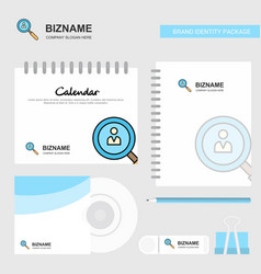 search avatar logo calendar template cd cover vector image